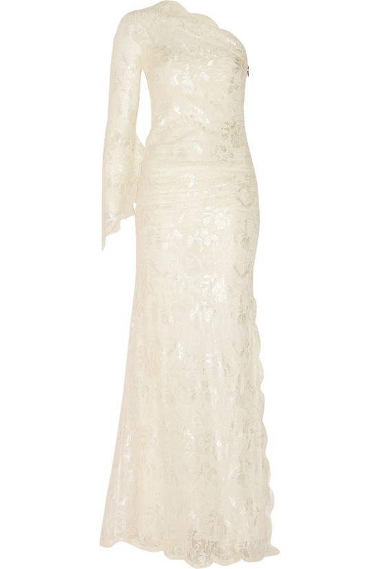 emilio pucci one shoulder wedding dress