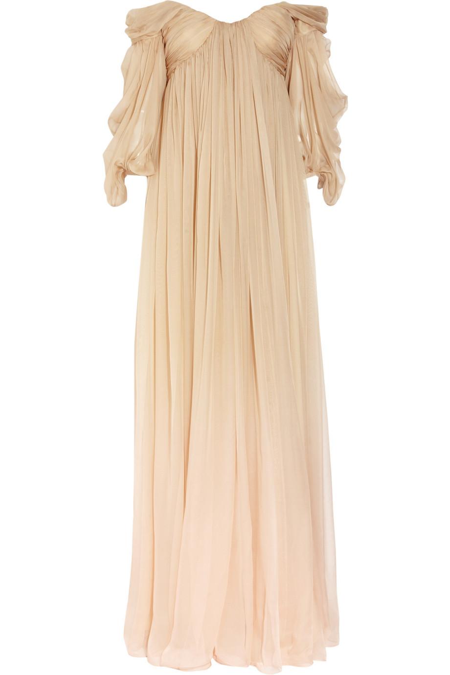 Degrade Silk Chiffon Wedding Dress By Alexander Mcqueen