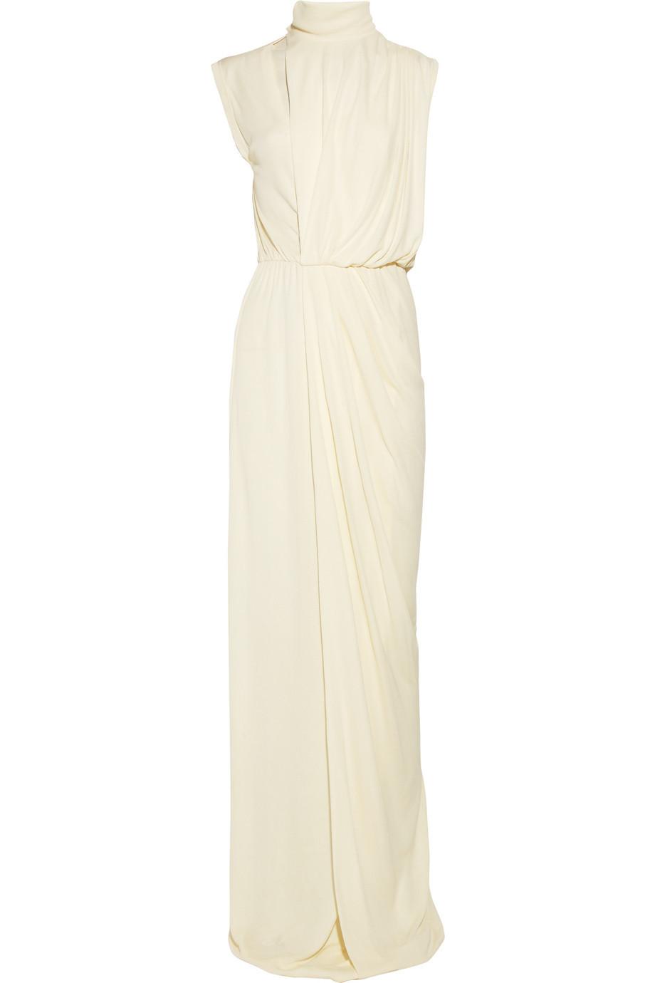 Draped-crepe-wedding-dress-high-neck.full