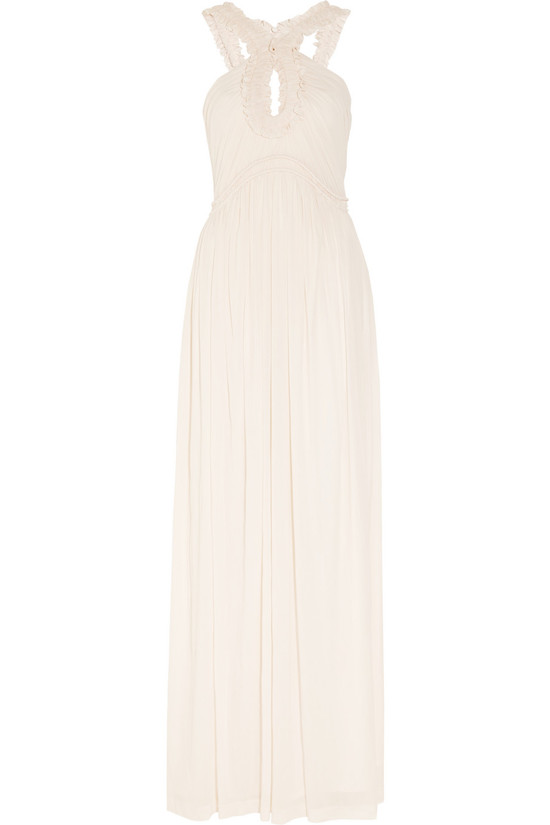 creamy blossom wedding dress by alexander mcqueen