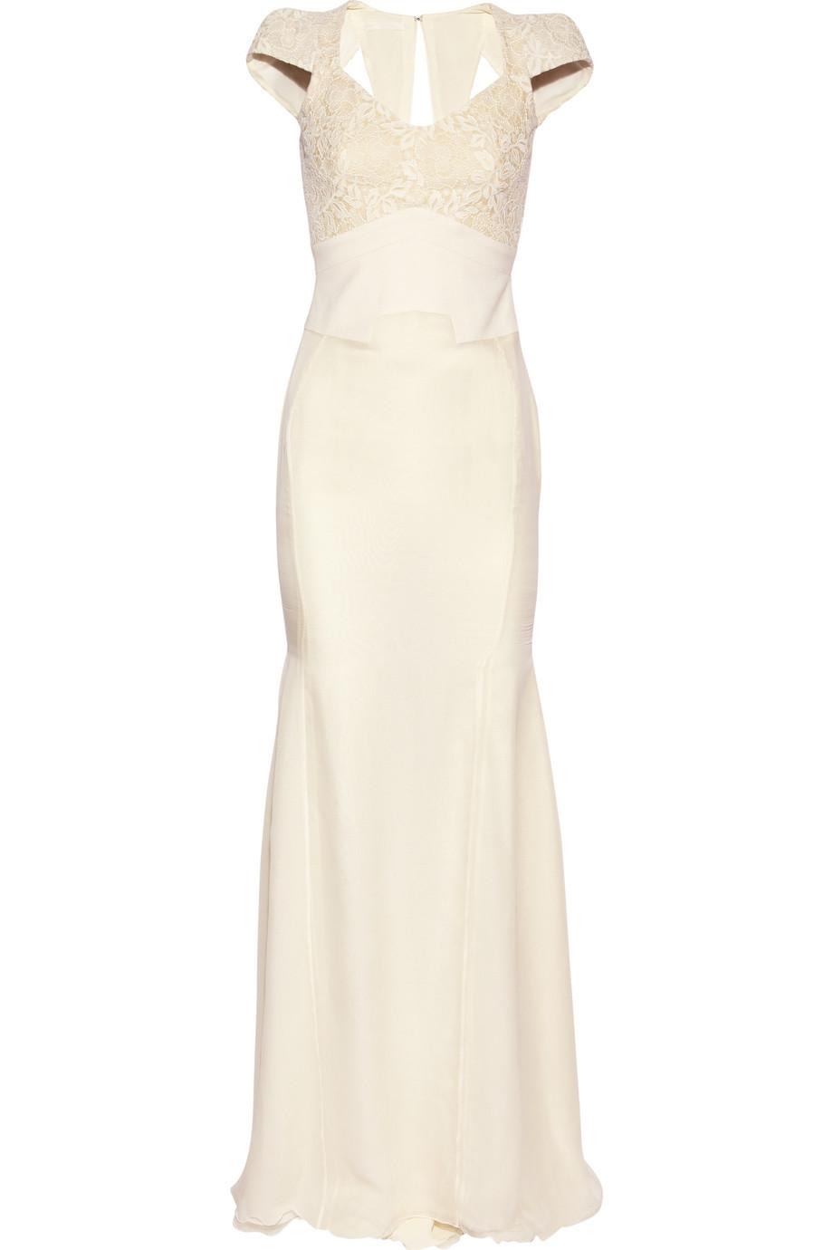 Antonio berardi cream wedding dress for Simple cream wedding dresses