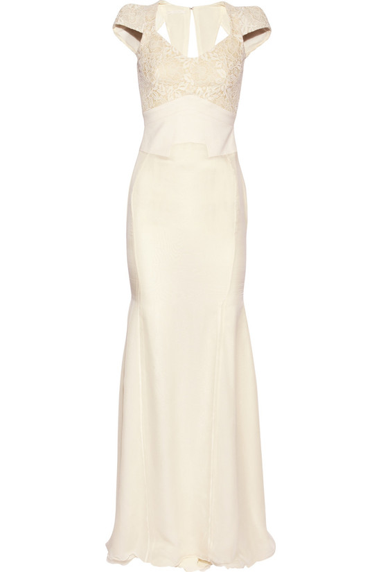 antonio berardi cream wedding dress