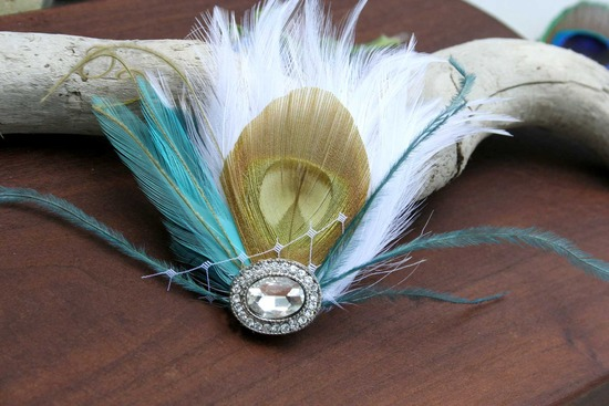 art deco wedding hair accessories feather fascinator