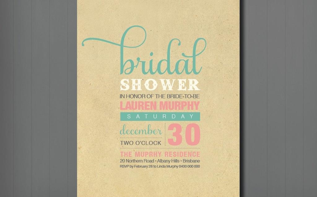 Unique bridal shower wedding invitation filmwisefo