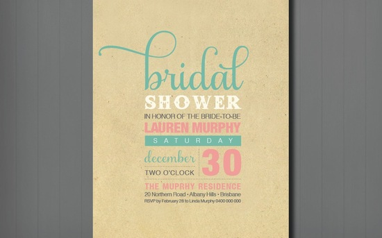 unique bridal shower wedding invitation