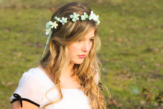 floral crown for flower girls bohemian wedding style