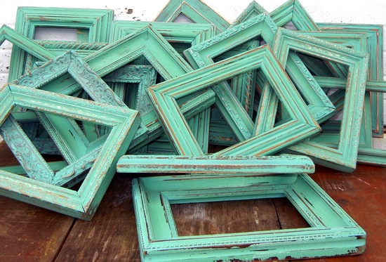 antique wooden frames for rustic wedding table numbers