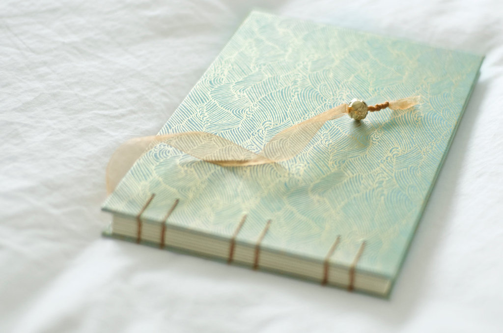gold aquamarine wedding album guest book