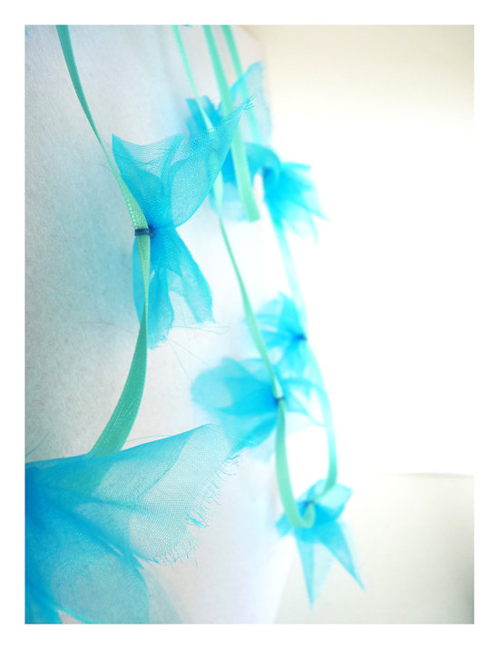 photo of Aqua blue wedding garland