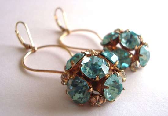 aquamarine gold bridal earrings etsy weddings