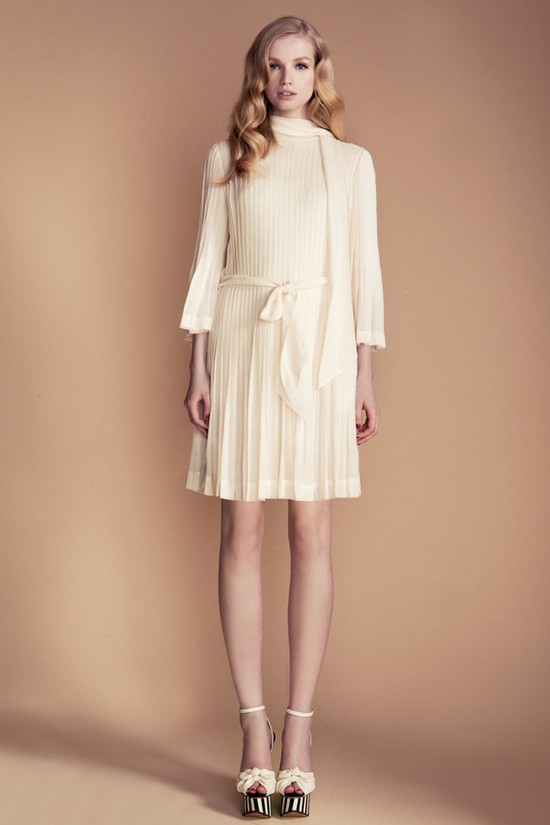 temperley london 3 4 sleeve ivory LWD