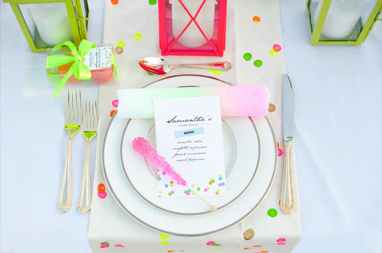 neon wedding ideas outdoor bridal shower