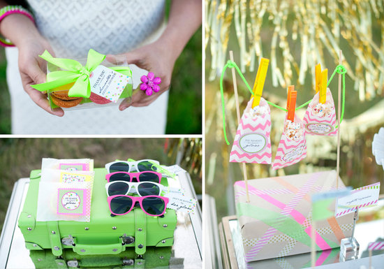 neon wedding inspiration outdoor bridal shower