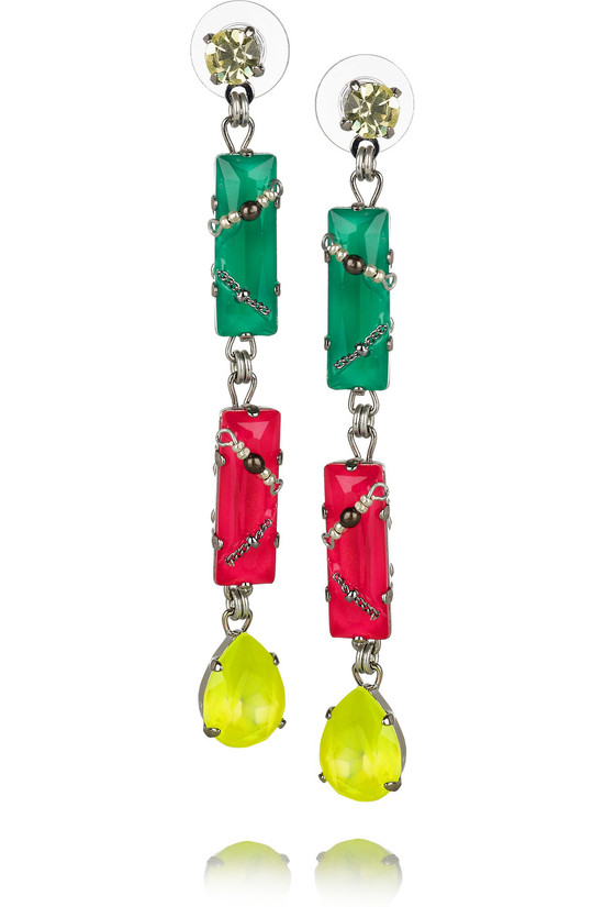 photo of Colour Me Crazy Swarovski crystal earrings