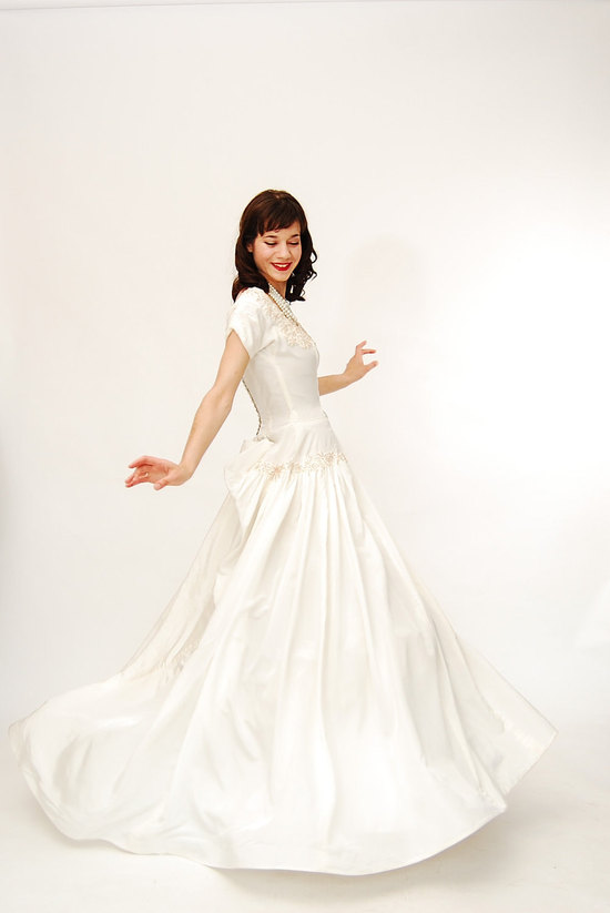 taffeta wedding dress vintage bridal gown on Etsy