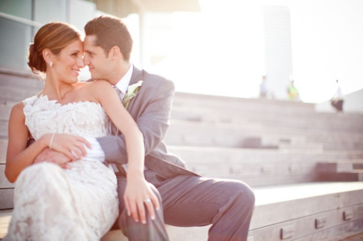 One-shoulder-lace-wedding-dress-bride-and-groom.full