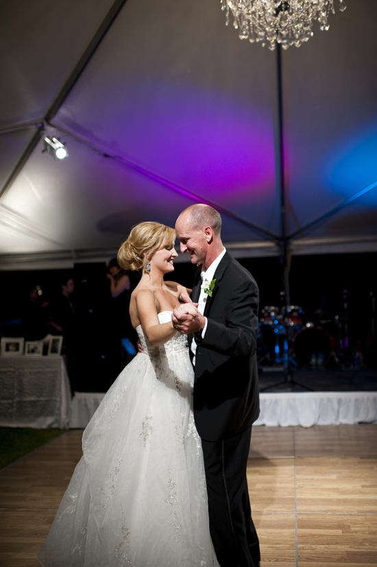 classic fall wedding bride groom first dance
