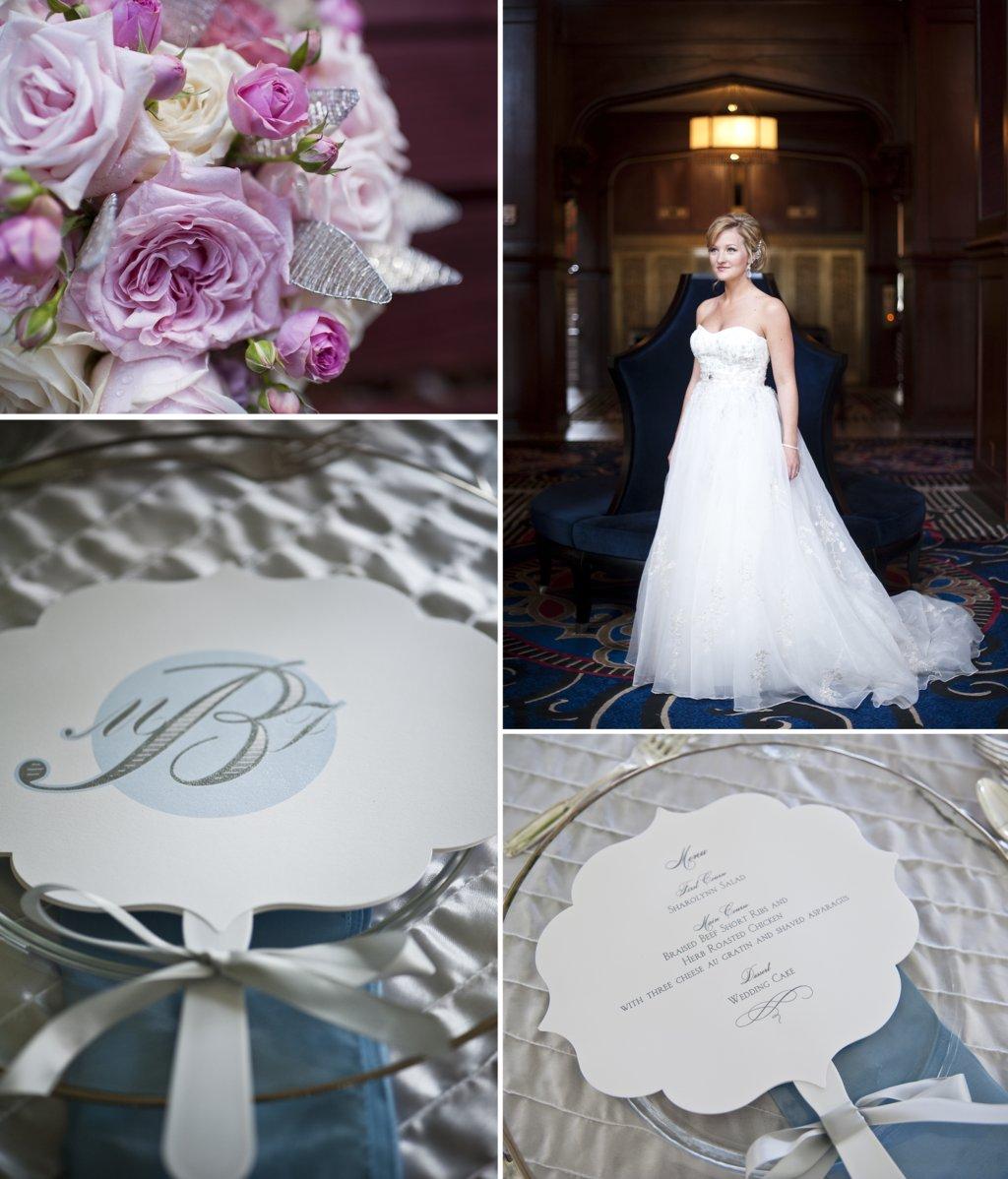 Classic-fall-wedding-elegant-bride-a-line-tulle-wedding-dress-monogram-ceremony-programs.full