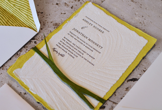 green wedding ideas recycled wedding invitations