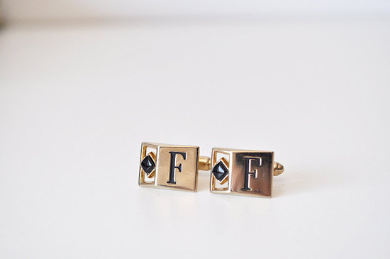 photo of Vintage monogram cufflinks