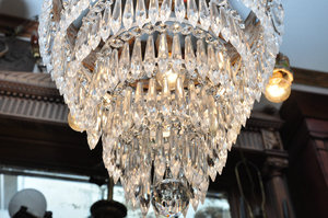 photo of Antique wedding cake chandelier