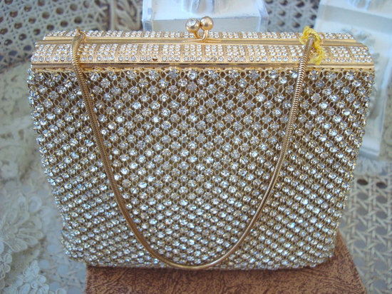 photo of 1950's Walborg Rhinestones bridal clutch