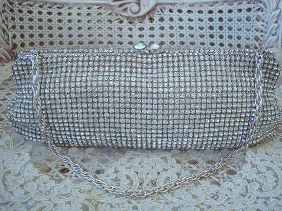 photo of 1950's rhinestone purse