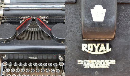 antique wedding finds typewriter