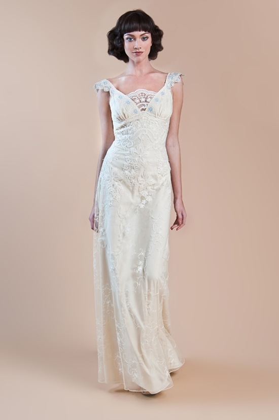 photo of Claire Pettibone mrs zuckerbergs bridal designer wedding dress Spring 2013 8