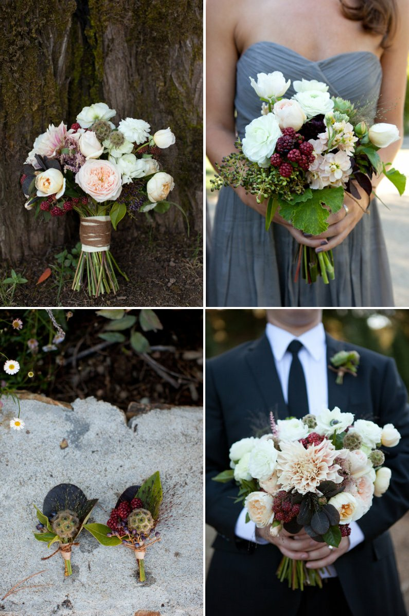 edible wedding flower bouquets boutonnieres berries