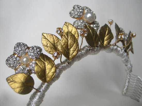 antique wedding accessories for vintage brides gold silver headband