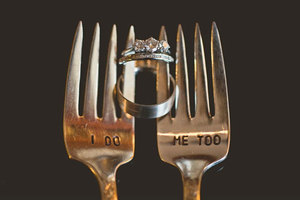 photo of I Do vintage fork and knife