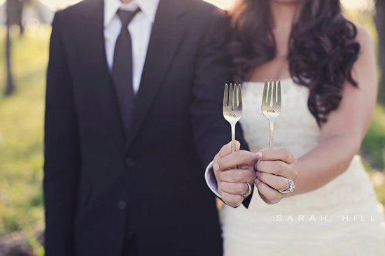 photo of Mr. and Mrs. vintage fork and knife