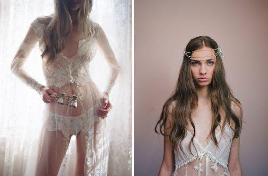 photo of Claire Pettibone Does Bridal Boudoir