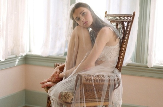 photo of Claire Pettibone Does Bridal Boudoir