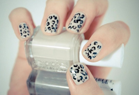 cheetah wedding nails