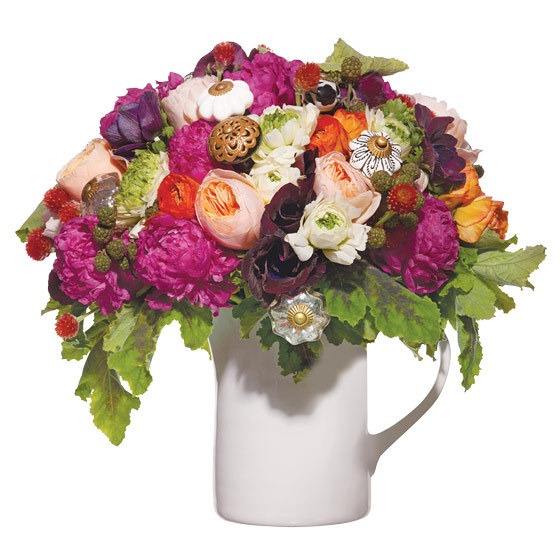Unique-wedding-centerpiece-juliet-garden-roses-anemones-ranunculus-peonies-gomphrena-blackberries-geranium-leaves-ceramic-and-glass-drawer-pulls.full