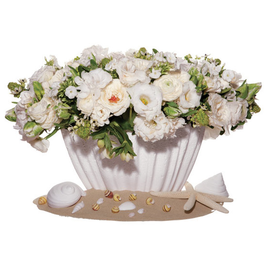 unique wedding centerpiece Star of Bethlehem ranunculus peonies garden roses phlox lisianthus freesi