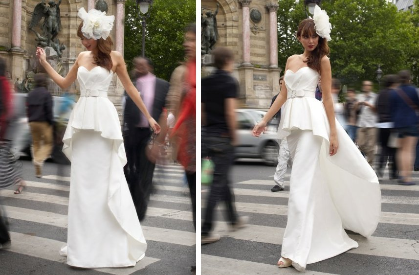 vintage inspired wedding dress stephanie allin mermaid with peplum