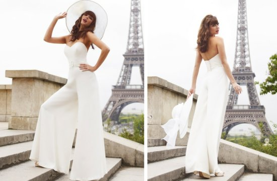 vintage inspired wedding dress stephanie allin bridal pants