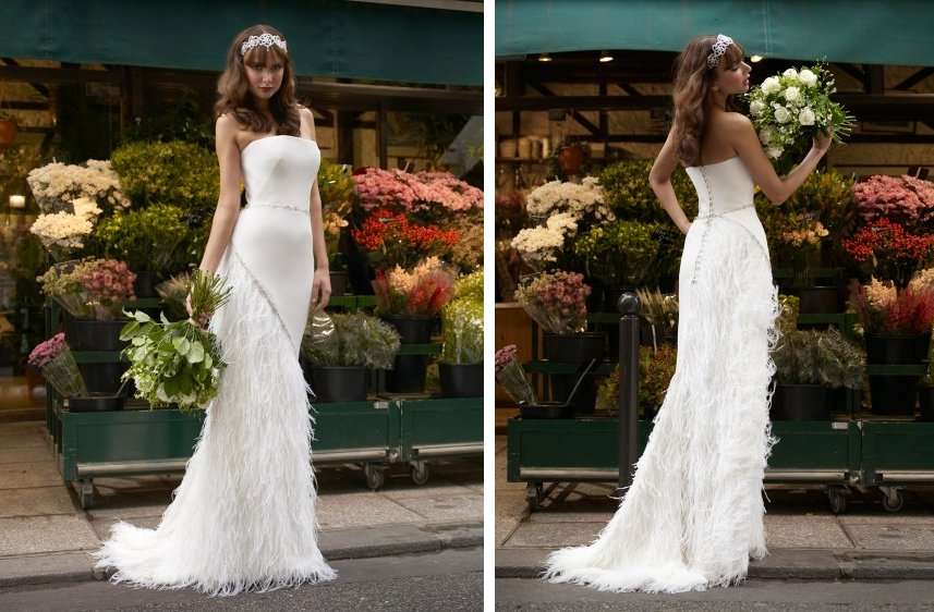Vintage-inspired-wedding-dress-stephanie-allin-feather-embellished-skirt.full
