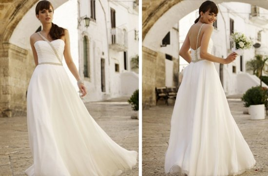 vintage inspired wedding dress stephanie allin grecian inspired bridal gown crystal beading