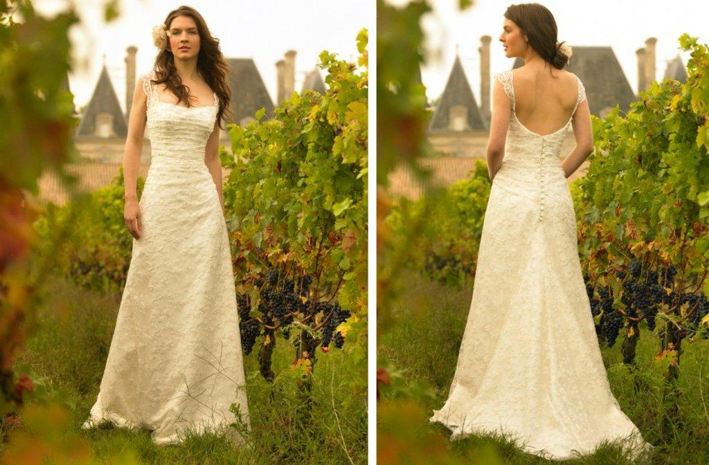 Vintage Inspired Wedding Dress Stephanie Allin Lace Illusion