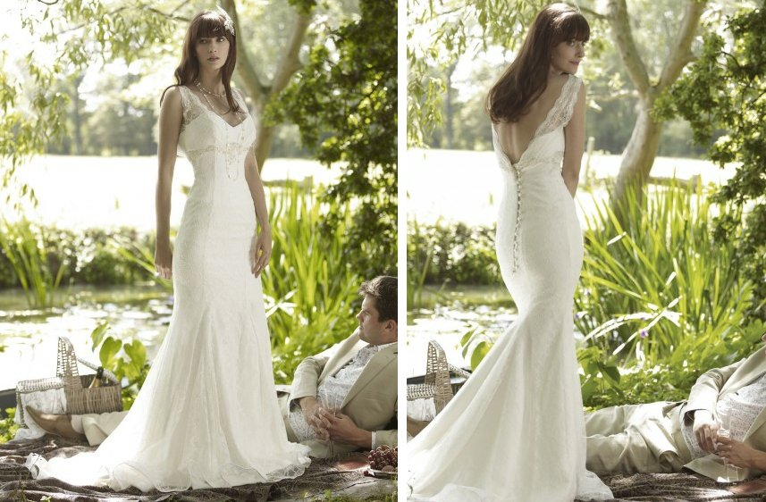 romantic wedding dresses by stephanie allin 2012 bridal gown lace mermaid v back