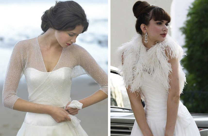 Romantic wedding dresses by stephanie allin 2012 bridal for Cover up wedding dress