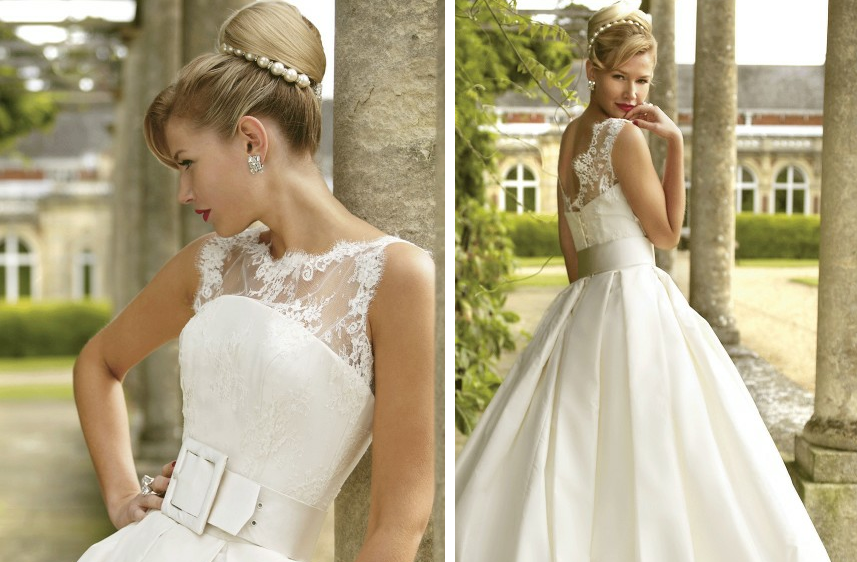 Romantic wedding dresses by stephanie allin 2012 bridal for Vintage inspired lace wedding dresses
