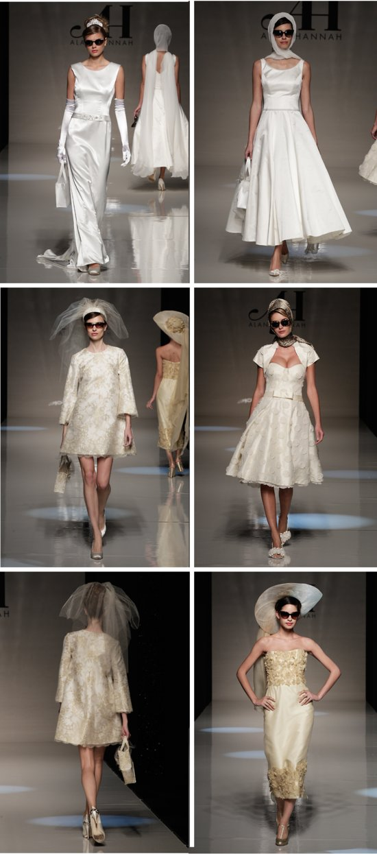 1960's-inspired wedding dresses for 2013