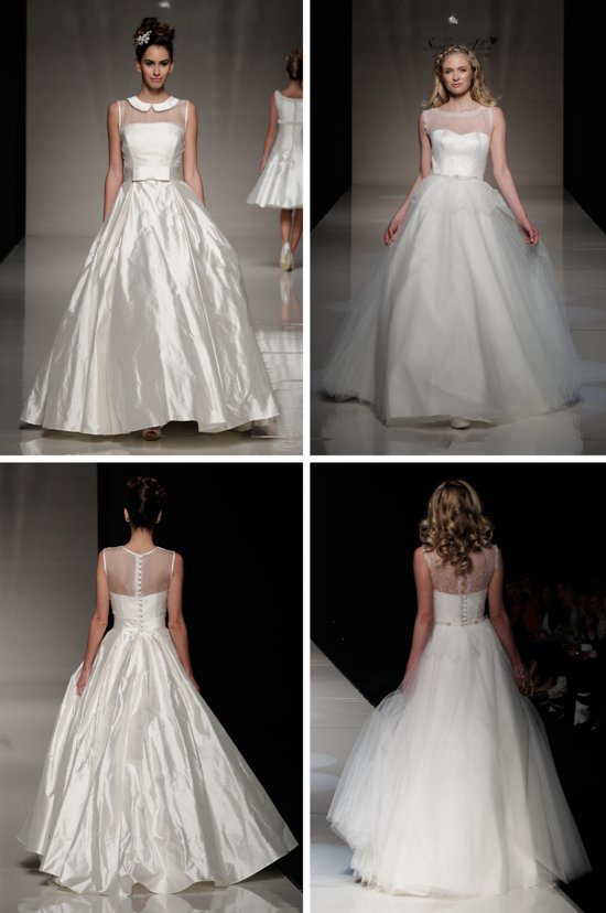 2013 wedding dress trends from London sheer illusion necklines