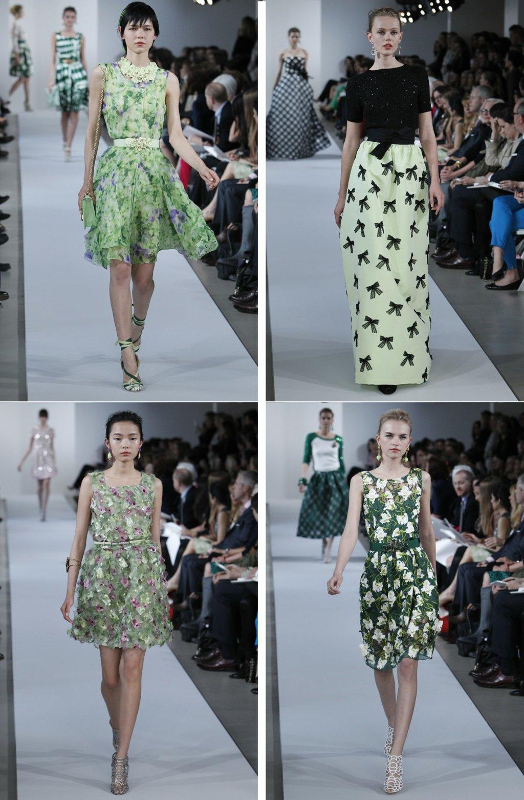Bridesmaid-dress-inspiration-oscar-de-la-renta-green-black-floral-printed-dresses.full