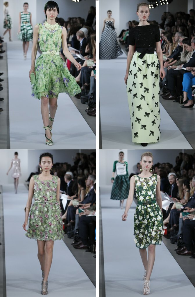 photo of Oscar de la Renta Goes Bold, Gold with Flowers All Over for Resort 2013